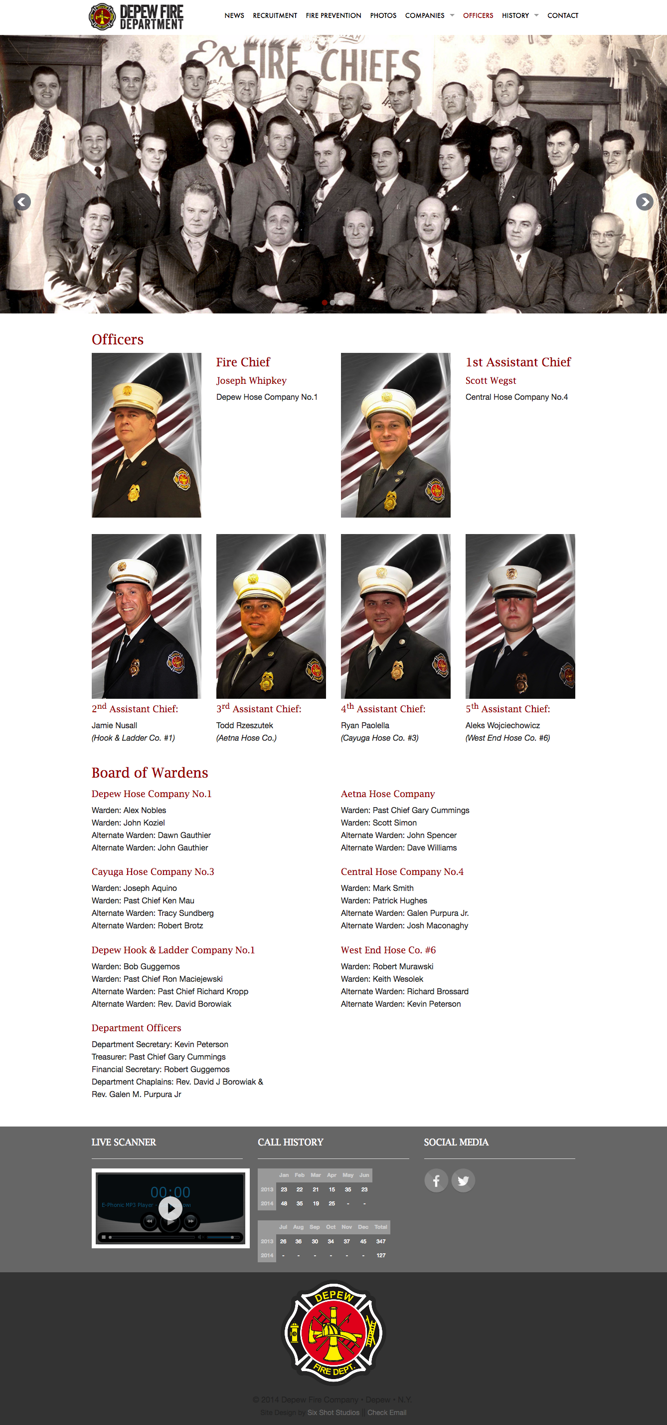 Depew Fire Website
