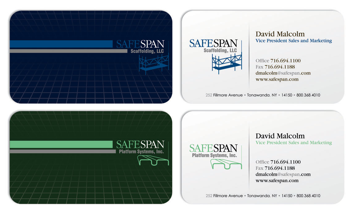 Safespan Business Card Design