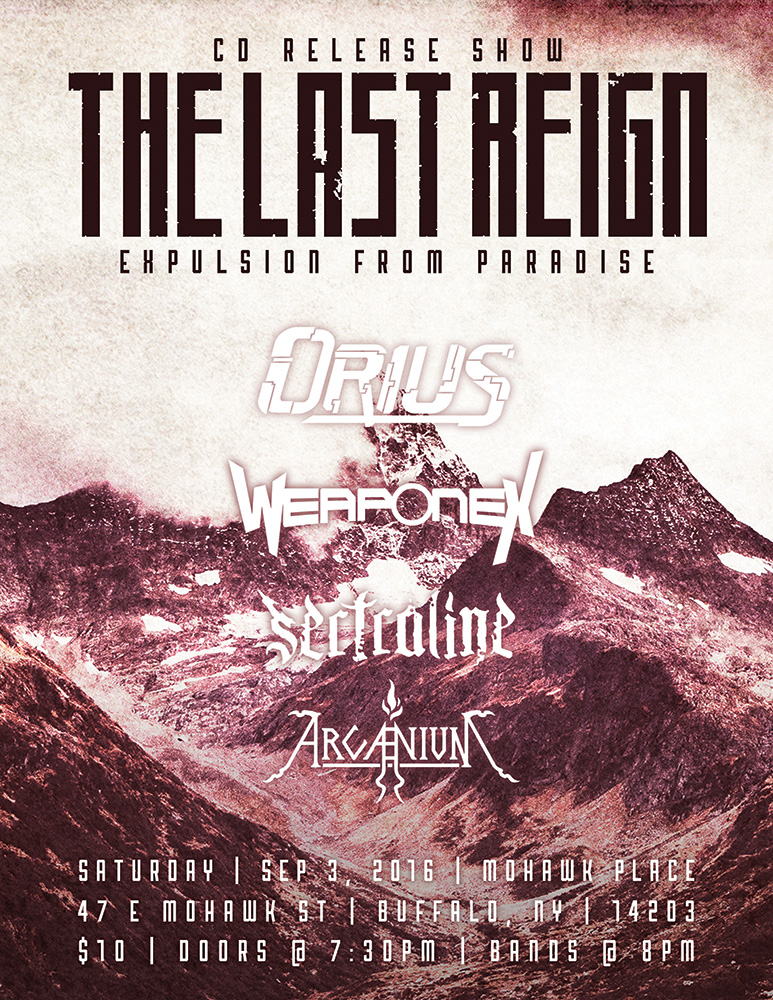 The Last Reign Debut Release Show Flyer