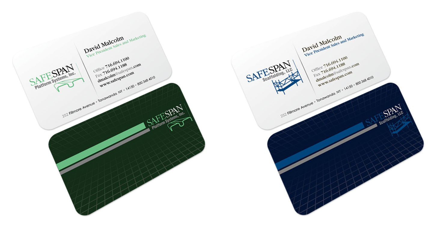 Safespan Business Cards
